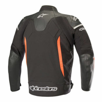Alpinestars SPX Black Flourescent Red Leather Riding Jackets1