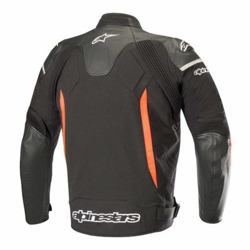Alpinestars SPX Black Flourescent Red Leather Riding Jackets1