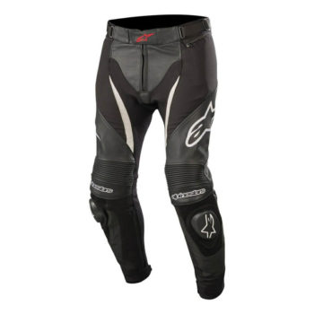 Alpinestars SPX Black White Leather Riding Pants