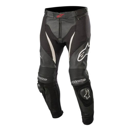Alpinestars SPX Black White Leather Riding Pants
