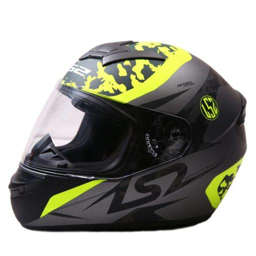 LS2 FF352 Airflow Matt Silver Fluorescent Yellow Full Face Helmet 1