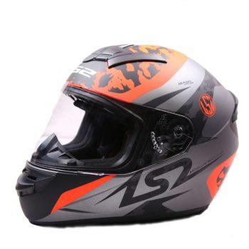 LS2 FF352 Airflow Matt Silver Orange Full Face Helmet 1