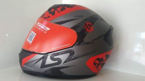 LS2 FF352 Airflow Matt Silver Red Full Face Helmet 1
