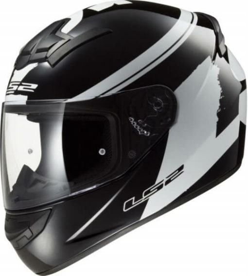 LS2 FF352 Bulky Matt Black White Full Face Helmet 1