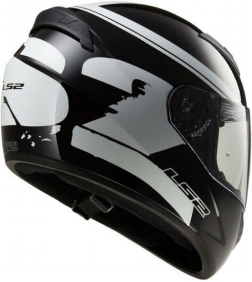LS2 FF352 Bulky Matt Black White Full Face Helmet 2