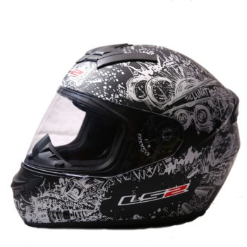 LS2 FF352 Lunatic Matt Black Silver Full Face Helmet 1