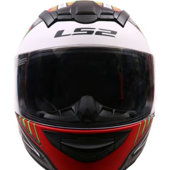 LS2 FF352 Spool Matt White Green Grey Full Face Helmet 3