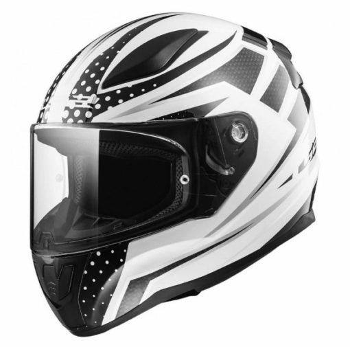 LS2 FF353 Carborace Matt White Black Full Face Helmet1