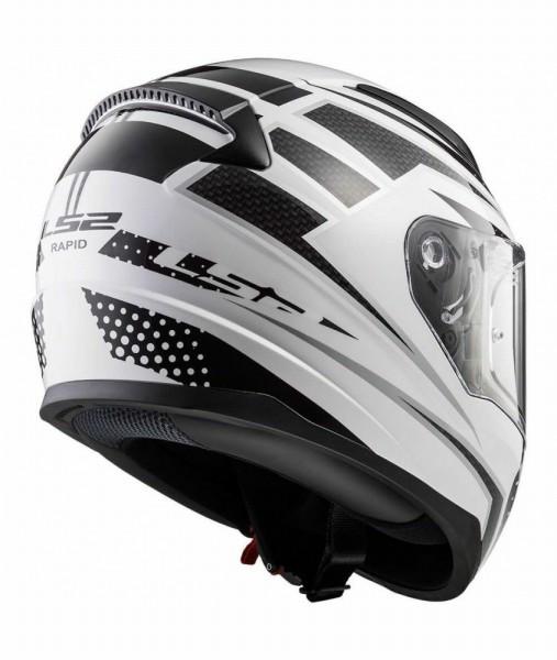 LS2 FF353 Carborace Matt White Black Full Face Helmet2
