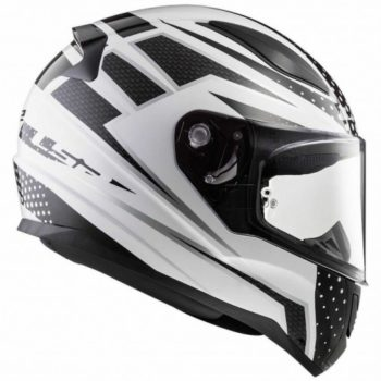 LS2 FF353 Carborace Matt White Black Full Face Helmet3