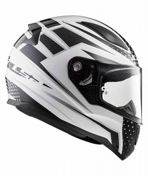 LS2 FF353 Carborace Matt White Black Full Face Helmet3