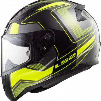 LS2 FF353 Rapid Carrera Matt Black Fluorescent Yellow Full Face Helmet 1