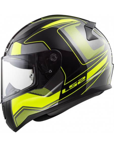LS2 FF353 Rapid Carrera Matt Black Fluorescent Yellow Full Face Helmet 1