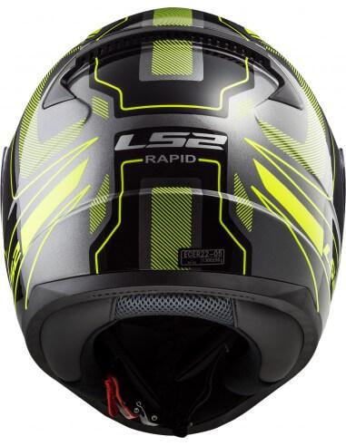 LS2 FF353 Rapid Carrera Matt Black Fluorescent Yellow Full Face Helmet 3