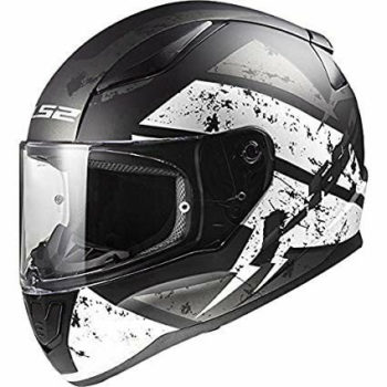 LS2 FF353 Rapid Deadbolt Matt Black White Full Face Helmet