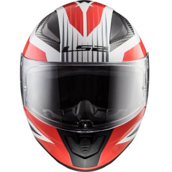 LS2 FF353 Rapid Grid Matt White Red Full Face Helmet 2