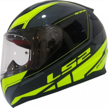 LS2 FF353 Rapid Infinity Matt Black Grey Fluorescent Yellow Full Face Helmet 1