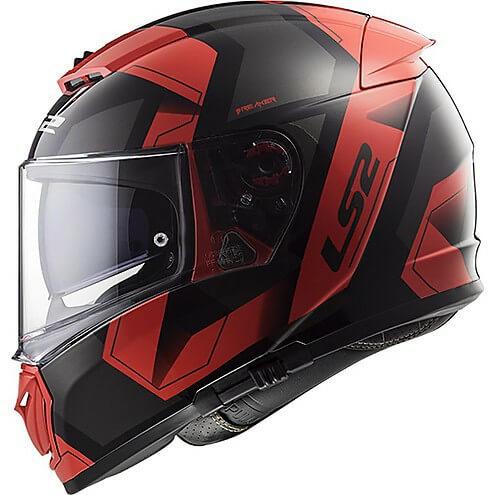 LS2 FF390 Breaker Physics Matt Black Red Full Face Helmet 1