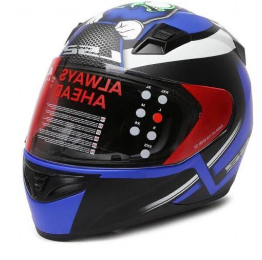 LS2 FF391 Moska Matt Black Blue Full Face Helmet 1