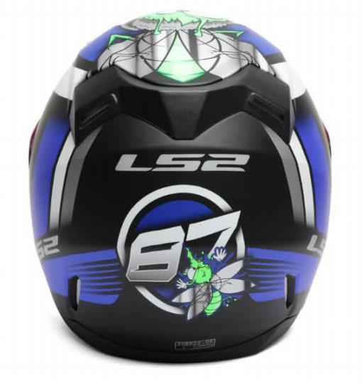 LS2 FF391 Moska Matt Black Blue Full Face Helmet 2