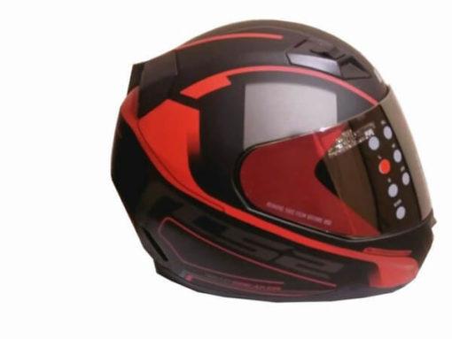 LS2 FF391 Night Breaker Matt Black Red Full Face Helmet 1