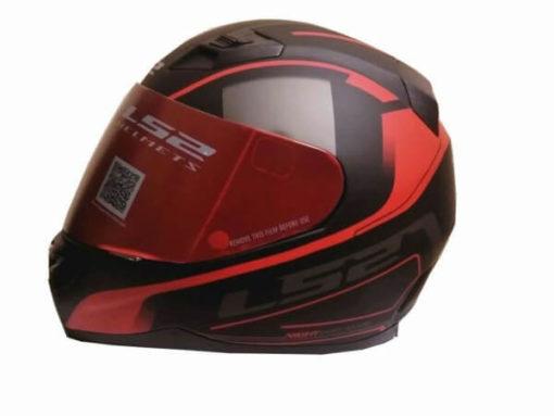 LS2 FF391 Night Breaker Matt Black Red Full Face Helmet 2