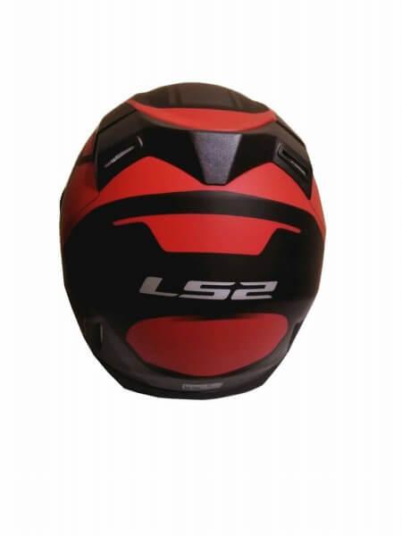 LS2 FF391 Night Breaker Matt Black Red Full Face Helmet 3