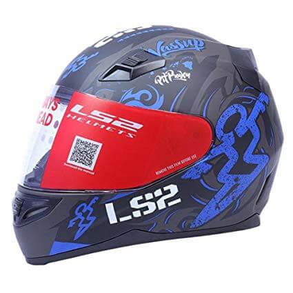 LS2 FF391 Olympic Matt Black Blue Full Face Helmet 1
