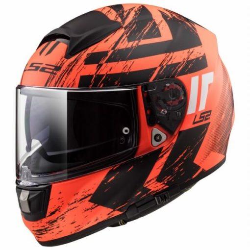 LS2 FF397 Vector Evo Hunter Matt Orange Black Full Face Helmet 1