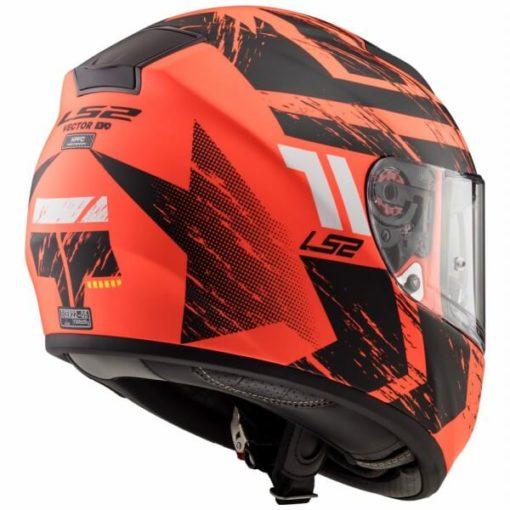LS2 FF397 Vector Evo Hunter Matt Orange Black Full Face Helmet 2