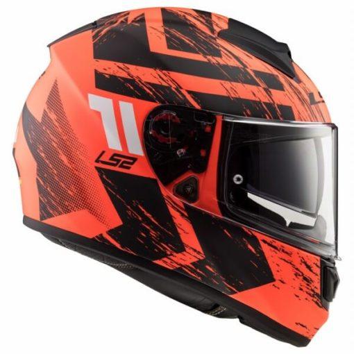 LS2 FF397 Vector Evo Hunter Matt Orange Black Full Face Helmet 3