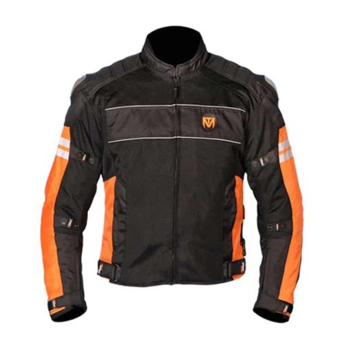 MOTOTORQUE REGISTER L2 BLACK ORANGE RIDING JACKET1