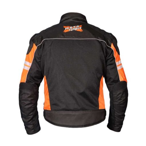 MOTOTORQUE REGISTER L2 BLACK ORANGE RIDING JACKET2