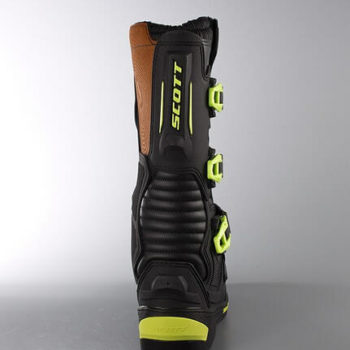 Scott 350 Motocross MX Black Green Boots3