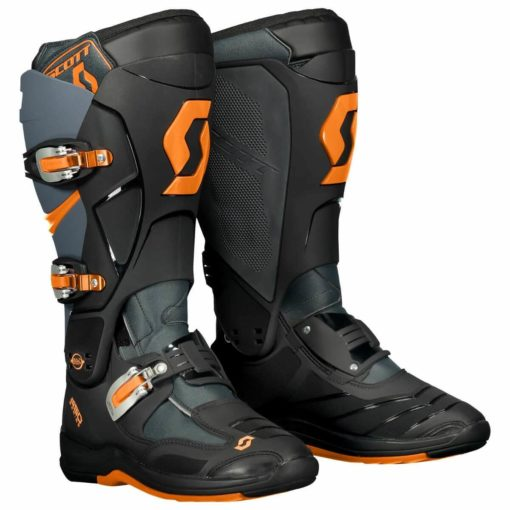 Scott 550 Motocross MX Grey Neon Orange Boots