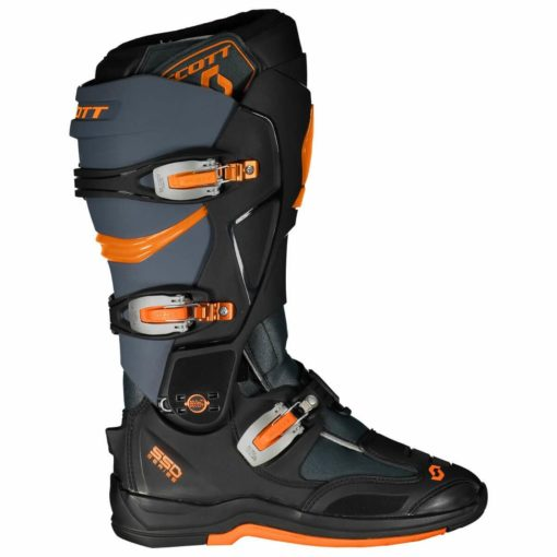 Scott 550 Motocross MX Grey Neon Orange Boots1