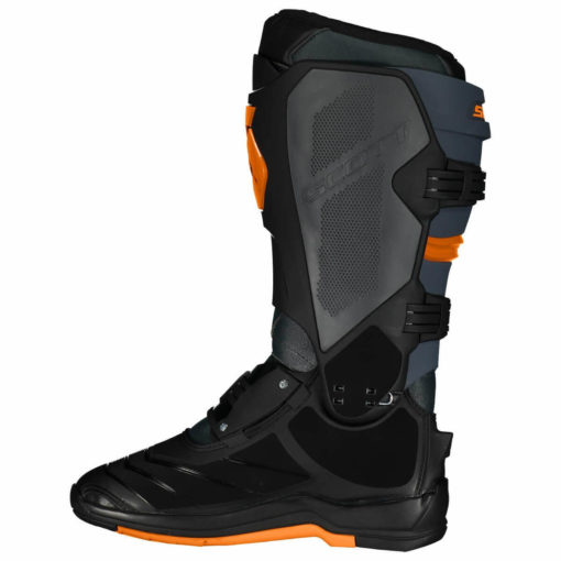 Scott 550 Motocross MX Grey Neon Orange Boots2