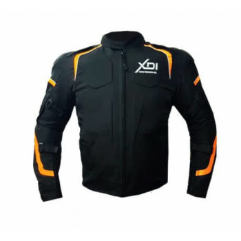 XDI Hooligan Black Orange Riding Jacket1