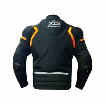 XDI Hooligan Black Orange Riding Jacket2