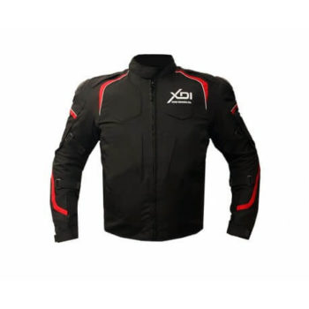 XDI Hooligan Black Red Riding Jacket1