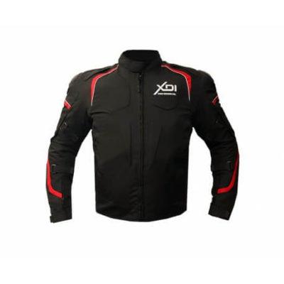 XDI Hooligan Black Red Riding Jacket1