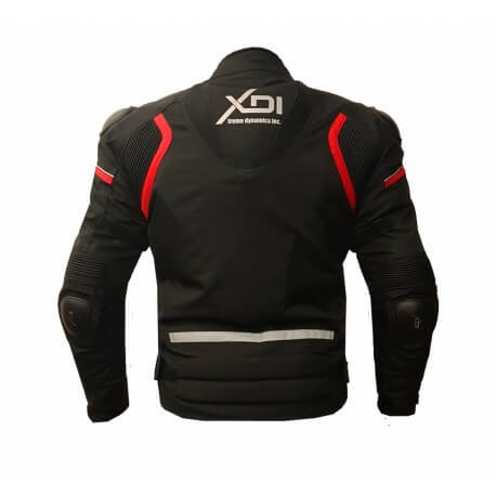 XDI Hooligan Black Red Riding Jacket2