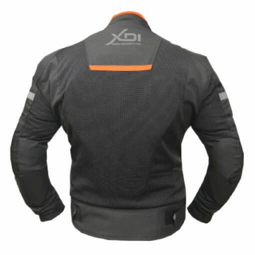 XDI Octane Black Orange Riding Jacket2