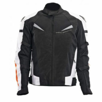 XDI X1 Black White Orange Riding Jacket1