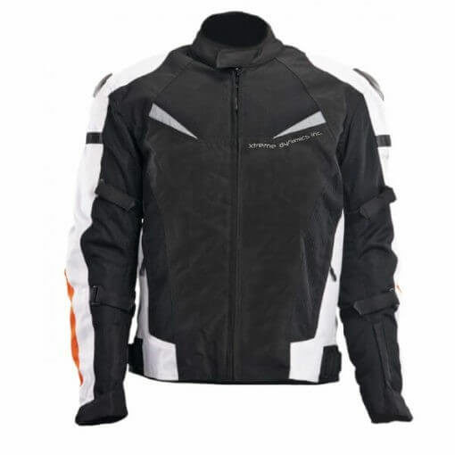 XDI X1 Black White Orange Riding Jacket1