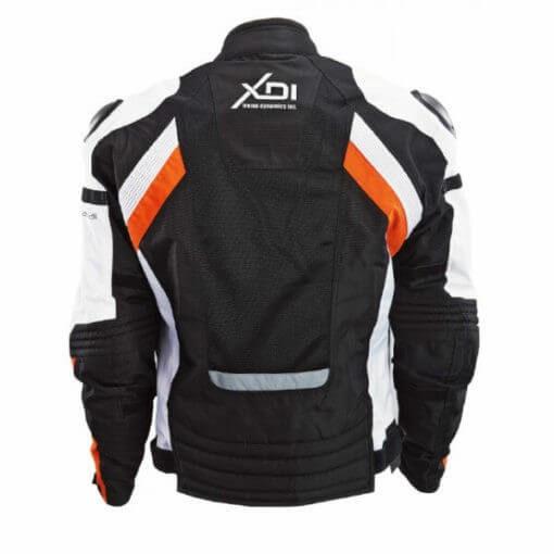 XDI X1 Black White Orange Riding Jacket2