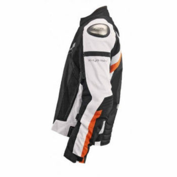 XDI X1 Black White Orange Riding Jacket3