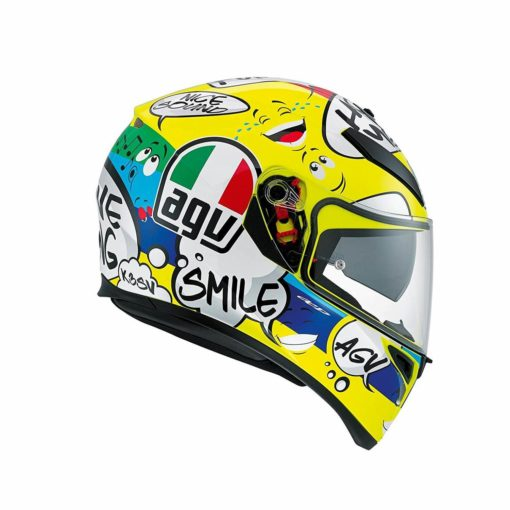 AGV K 3 SV Gloss Yellow Multi Plk Groovy Full Face Helmet1 1