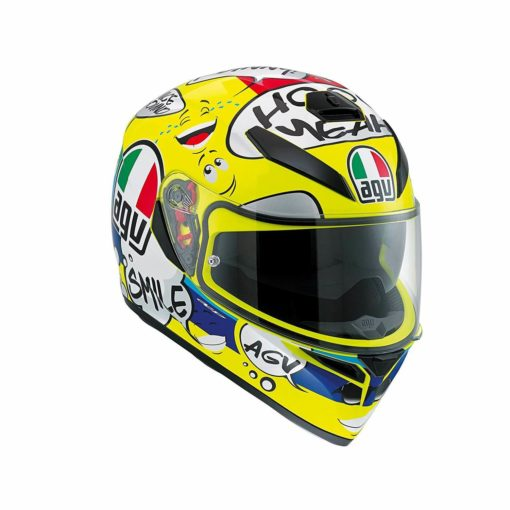 AGV K 3 SV Gloss Yellow Multi Plk Groovy Full Face Helmet1