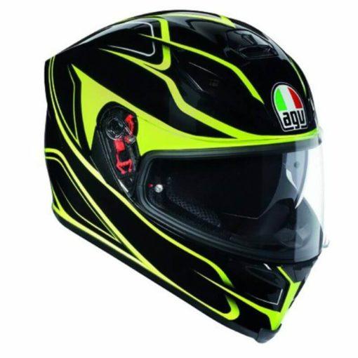 AGV K 5 S Magnitude Gloss Black Fluorescent Yellow Full Face Helmet